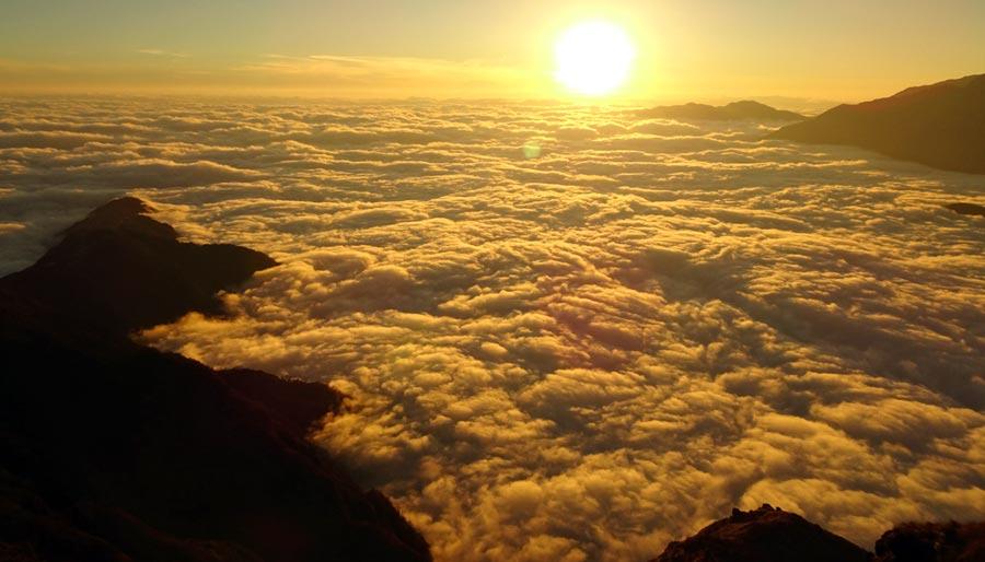 Mardi Himal Trek: Viewpoint, Sonnenuntergang