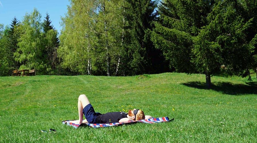 Picknickdecke: Campingdecke, Gras