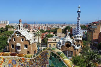 Spanien Sehenswürdigkeiten: Parc Güell, Gaudí, Architektur Barcelona