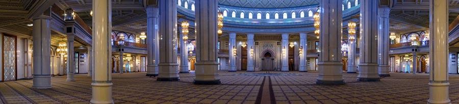 Ashgabat: Turkmenbashi Ruhy Moschee, Hauptstadt