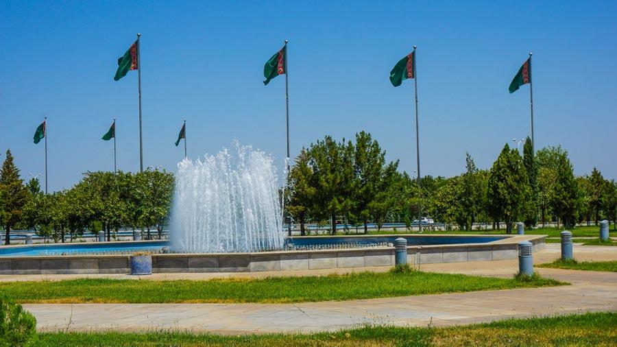 Ashgabat Sehenswürdigkeiten: Unabhängigkeitspark