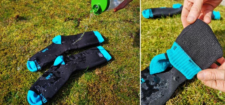 Wasserdichte Socken: Dexschell Test