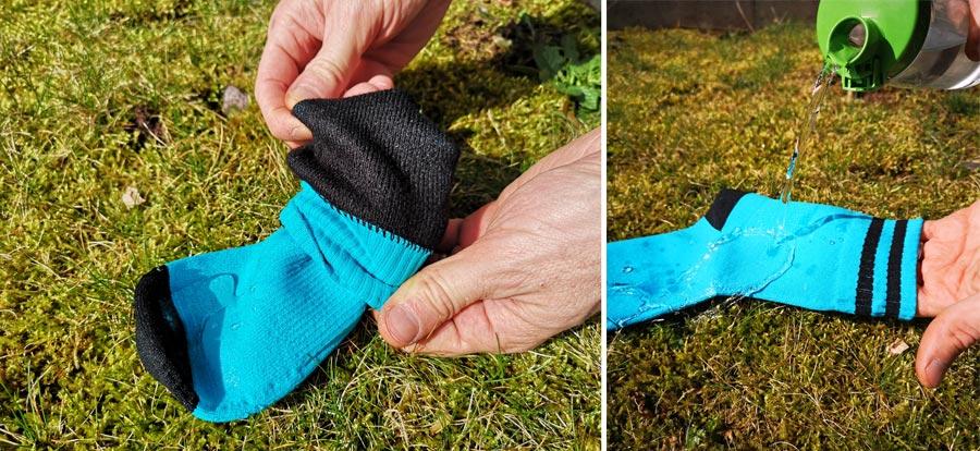 Wasserdichte Socken: Otter Test