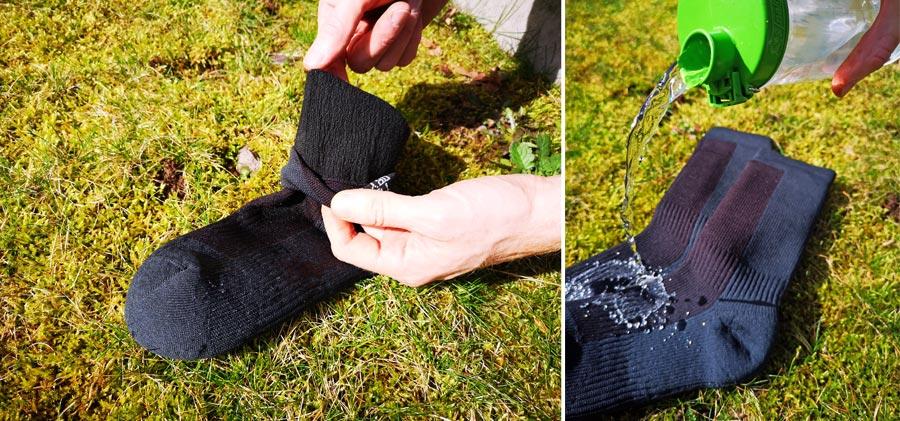 Wasserdichte Socken: SealSkinz Test