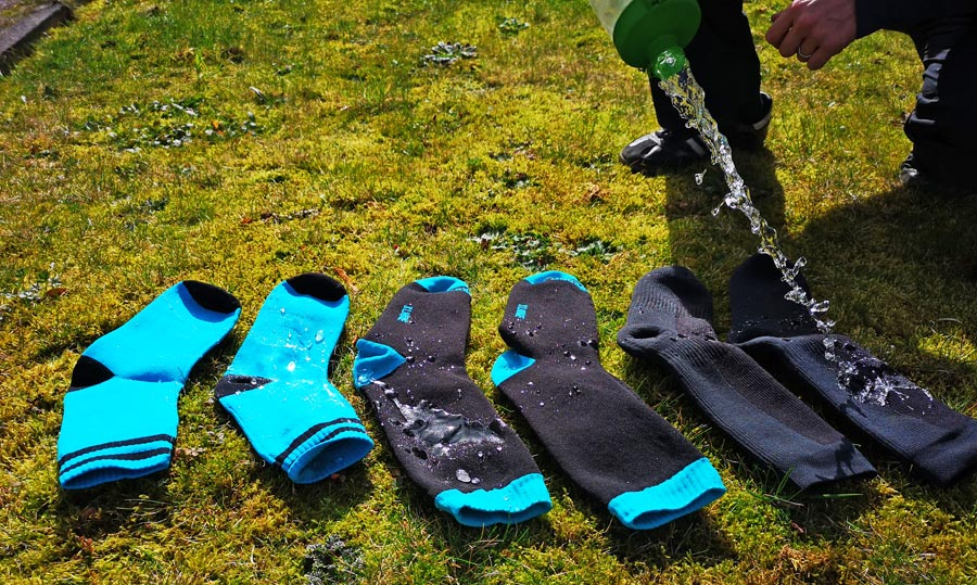 Wasserdichte Socken Test, Vergleich