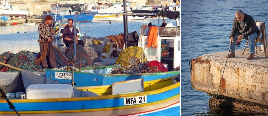 Malta Sehenswürdigkeiten: Fischmarkt, Marsaxlokk