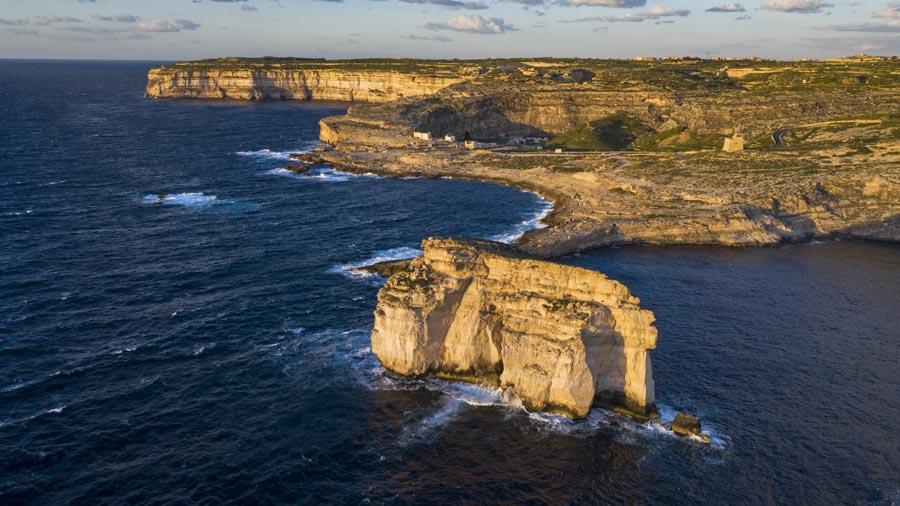 Malta Sehenswürdigkeiten: Gozo, Pilzfelsen