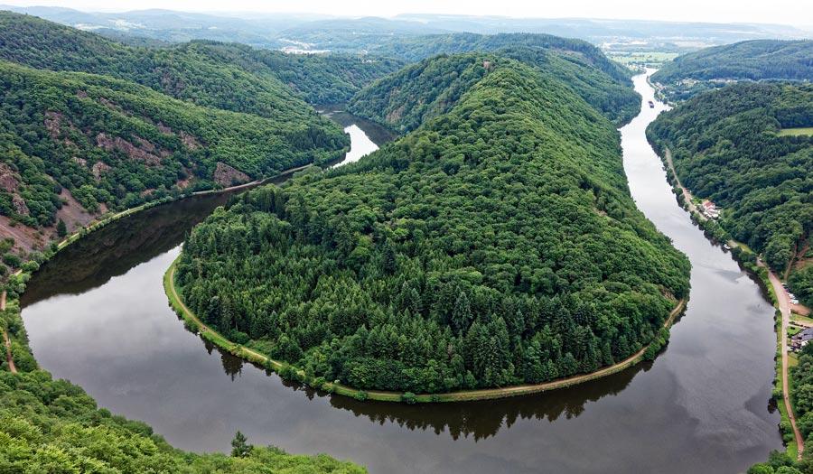 Saarland: Saarschleife, Aussichtspunkt Cloef