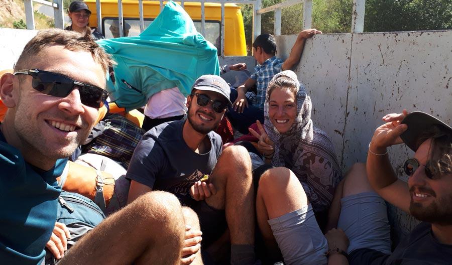 Trampen: Truck, LKW Reise