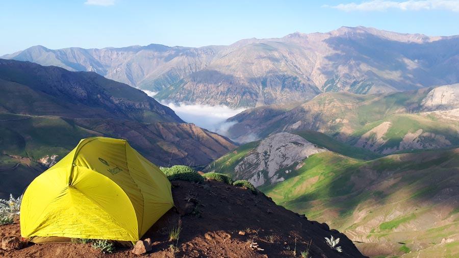 Trampen: Zelt, Reise, Landschaft