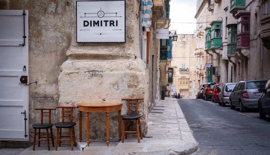 Valletta Sehenswürdigkeiten: Bar, Cafe, Restaurant
