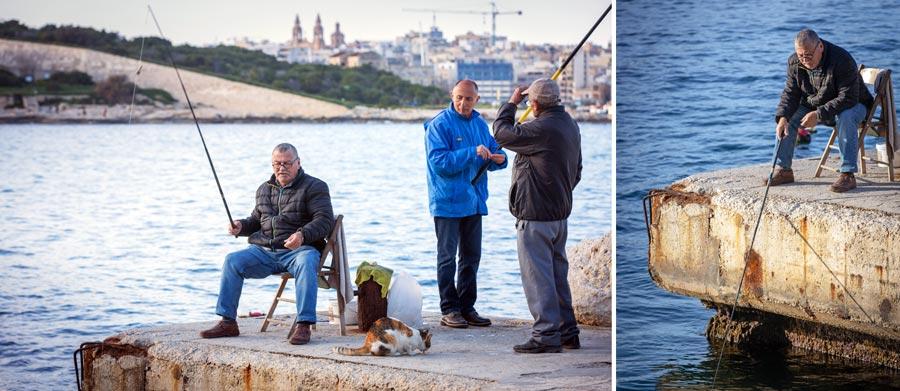 Valletta Sehenswürdigkeiten: Fischer, Menschen