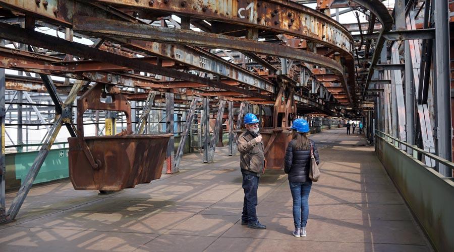 Voelklinger Hütte: Führung Hochofen, Gichtbühne