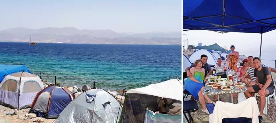 Israel: Rotes Meer, Zelt, Strand