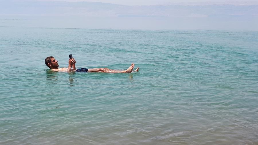 Israel: Totes Meer, schwimmen, Salz