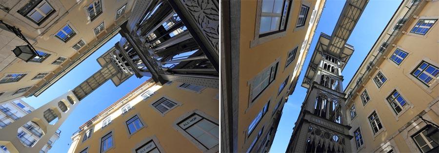 Lissabon Sehenswürdigkeiten: Aufzug, Elevador Santa Justa