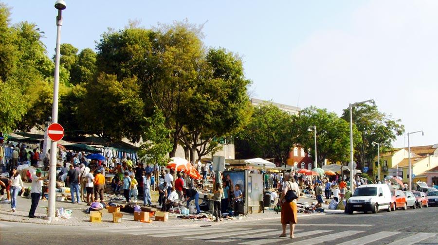 Lissabon Sehenswürdigkeiten: Flohmarkt Feira da Ladra