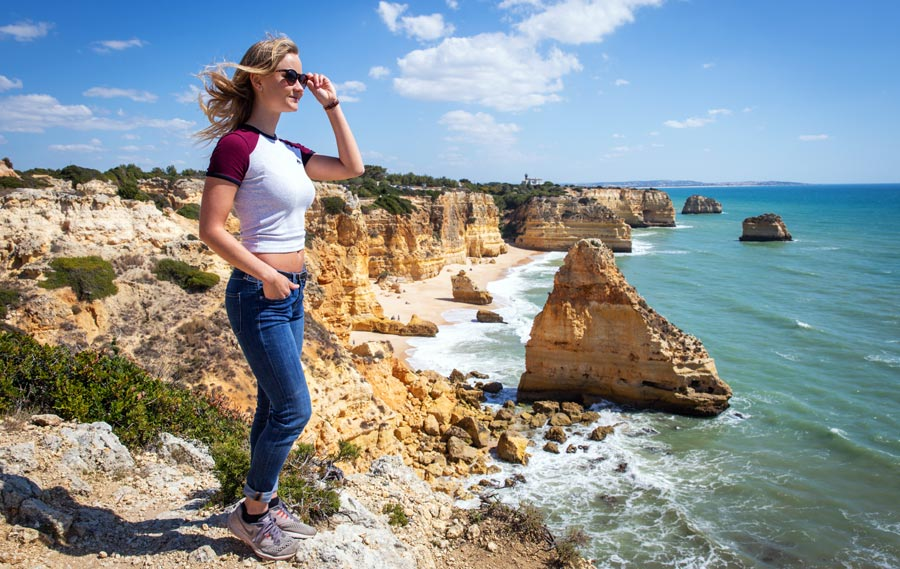 Portugal Sehenswürdigkeiten: Algarve, Klippen, Sandbuchten