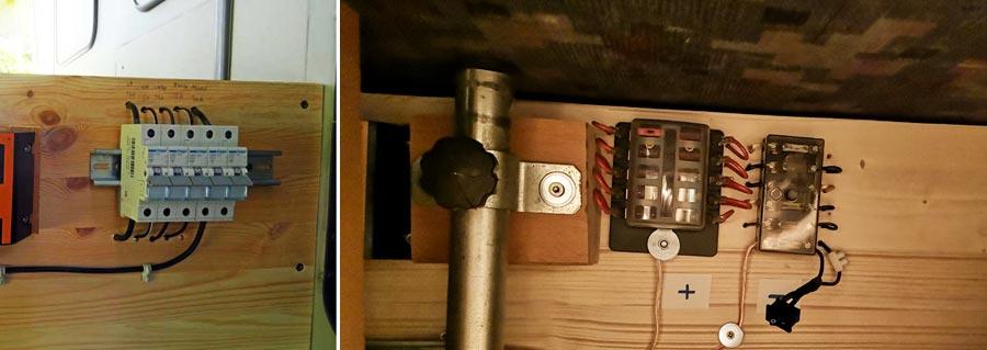 Solaranlage Wohnmobil: Sicherungen, Schalter