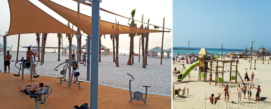 Tel Aviv Sehenswürdigkeiten: Fitness, Strand, Sport