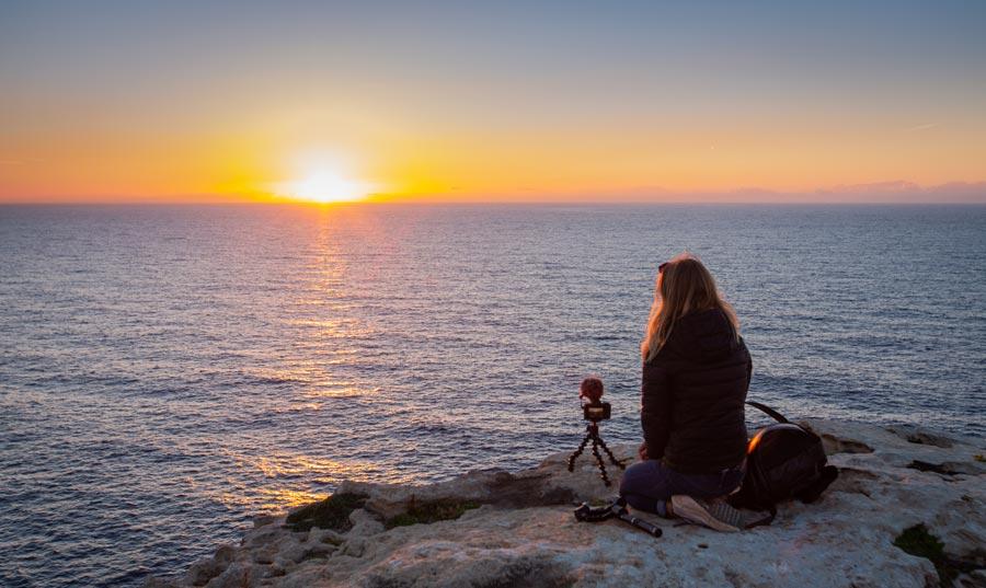 Dingli Steilküste, Sonnenuntergang Gozo