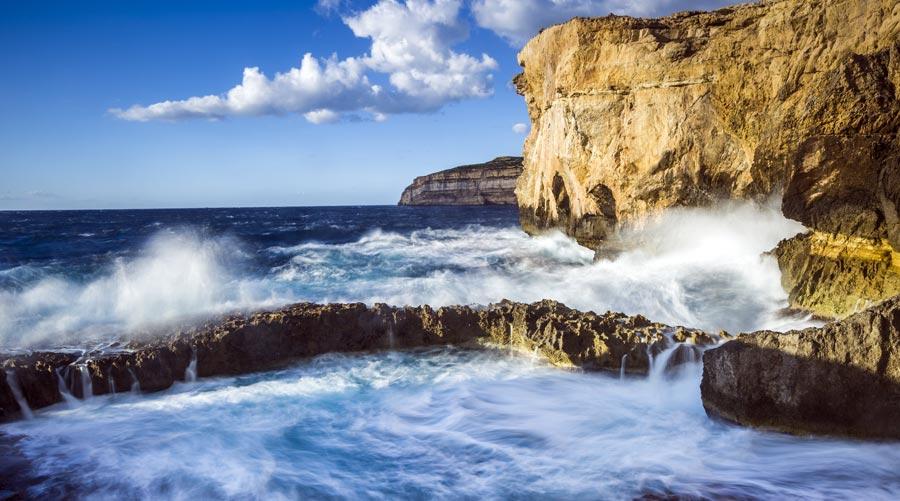 Gozo, Blaues Loch, Küste, Meer