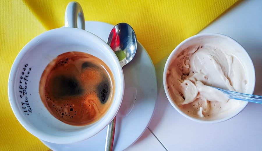 Italienischer Kaffee, Eis, Gelato, Nachspeise