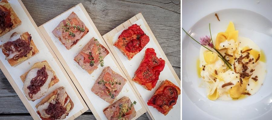 Italienisches Essen: Pastagericht, Trüffel-Nudeln