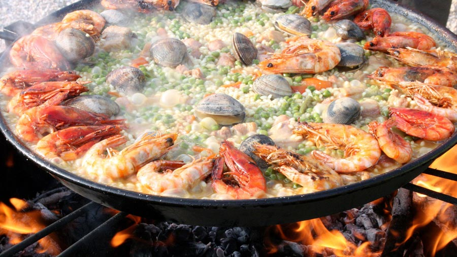 Paella, Nationalgericht Spanien