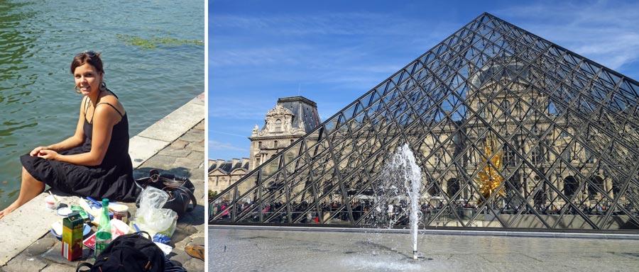 Paris Fluss Seine, Louvre