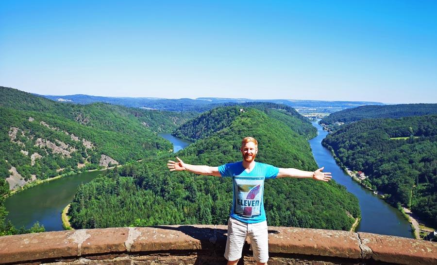 Saarschleife: Aussichtspunkt Cloef, Mettlach