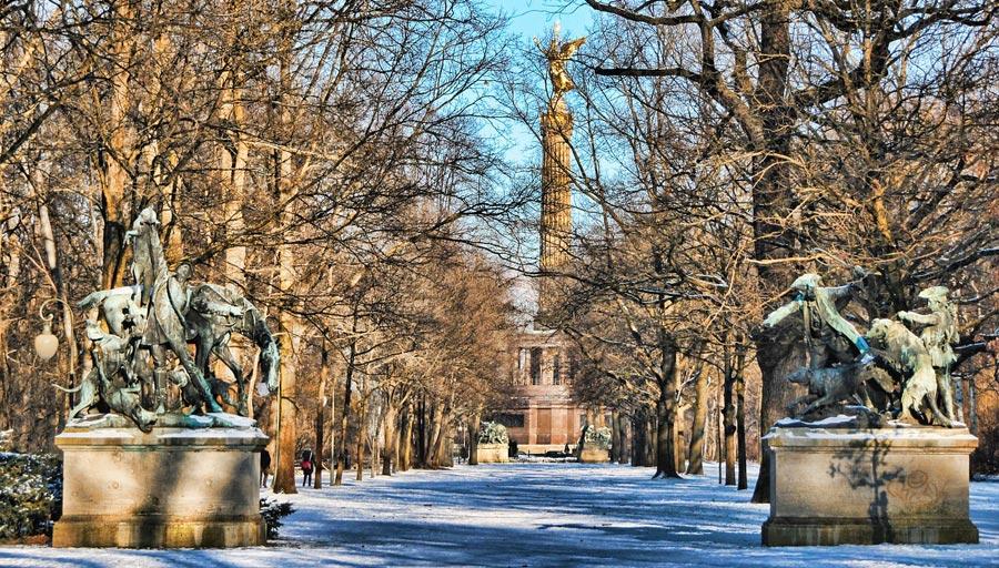 Berlin Siegessäule, Tiergarten Park