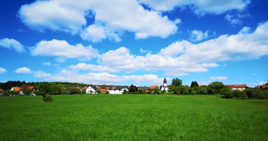 Wanderwege Saarland: Dorf Scheiden