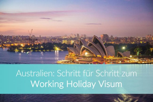 Australien Working Holiday Visum
