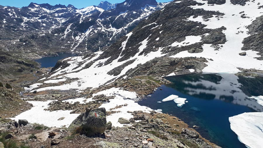 Bergseen Bachimana, Spanien Pyrenäen