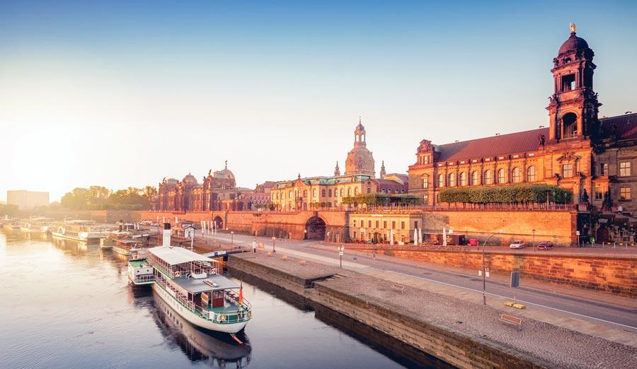 Brühlsche Terrassen, Fluss Elbe, Dresden