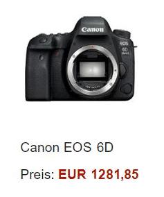 Reisekamera: Canon EOD 6D Mark II