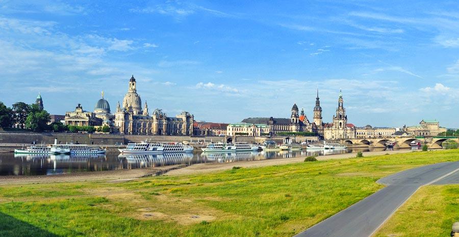 Dresden Elbufer, Sehenswürdigkeit Ostdeutschland