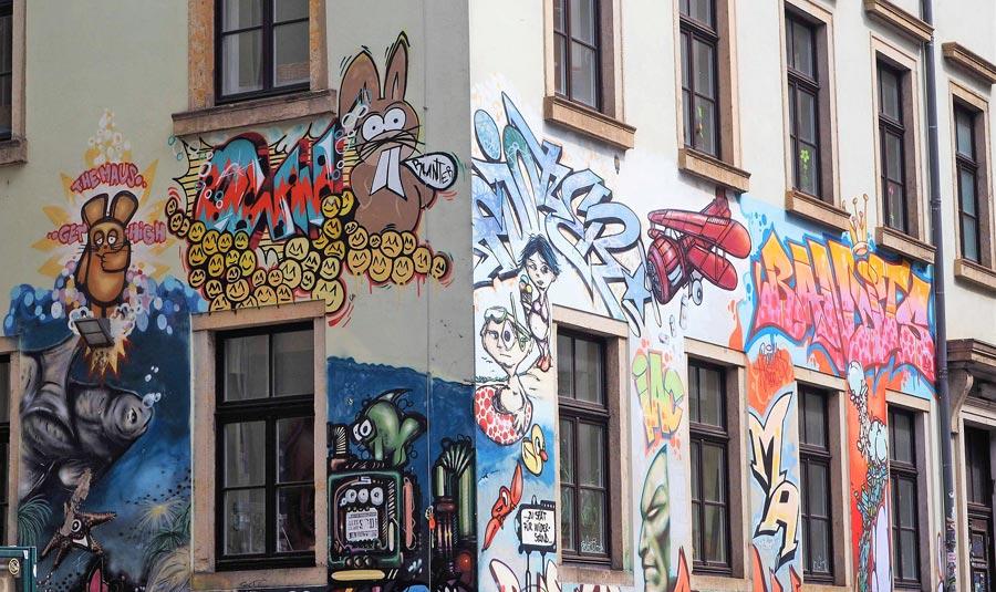Neustadt Dresden, Street Art