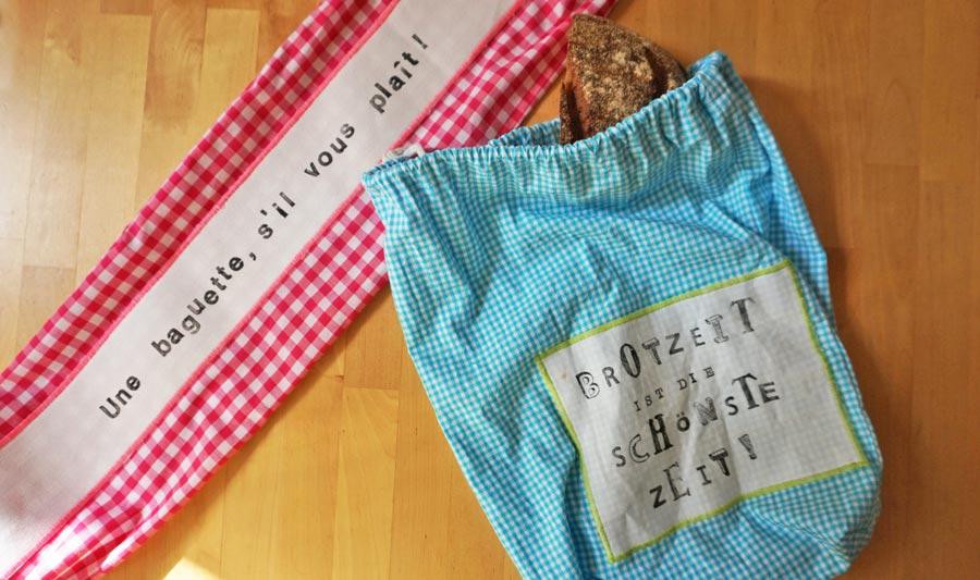 DIY Geschenke: Nachhaltige Brotbeutel