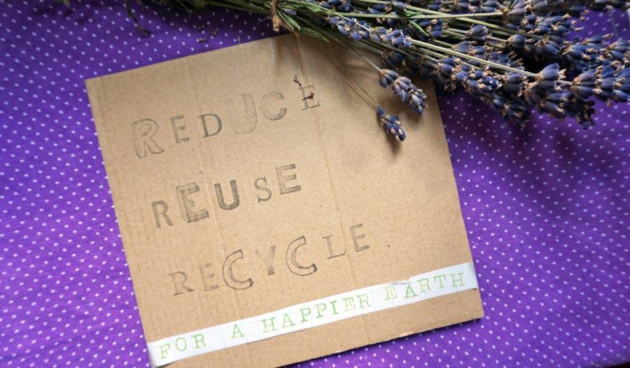 Nachhaltige Geschenke: Geschenkkarte basteln