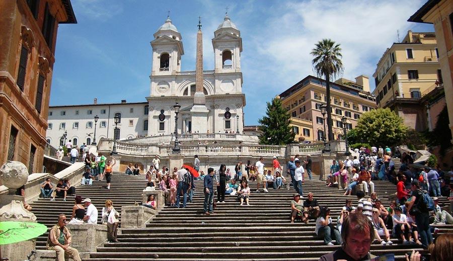 Attraktion Rom: Spanische Treppe