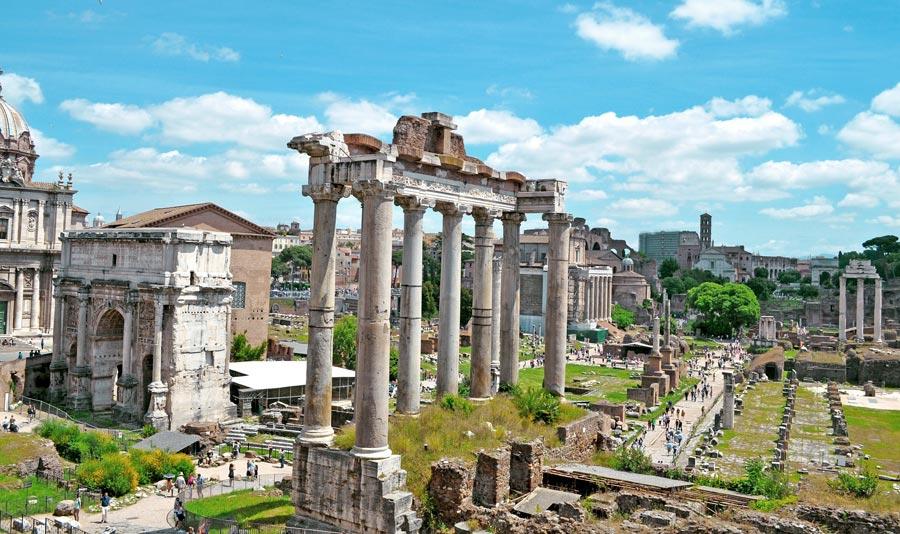 Rom, Stadt: Palatin Hügel, Aussicht Ausgrabungsstätte