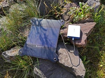 Solar Ladegerät Test: SunnyBag 7W, Powerbank