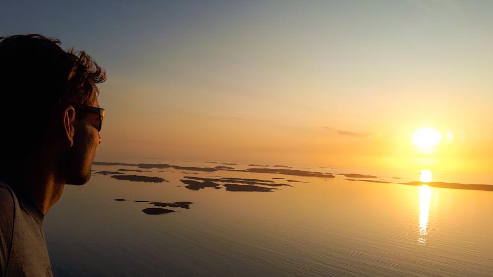 Sonnenuntergang Insel Bolga, Highlight in Helgeland