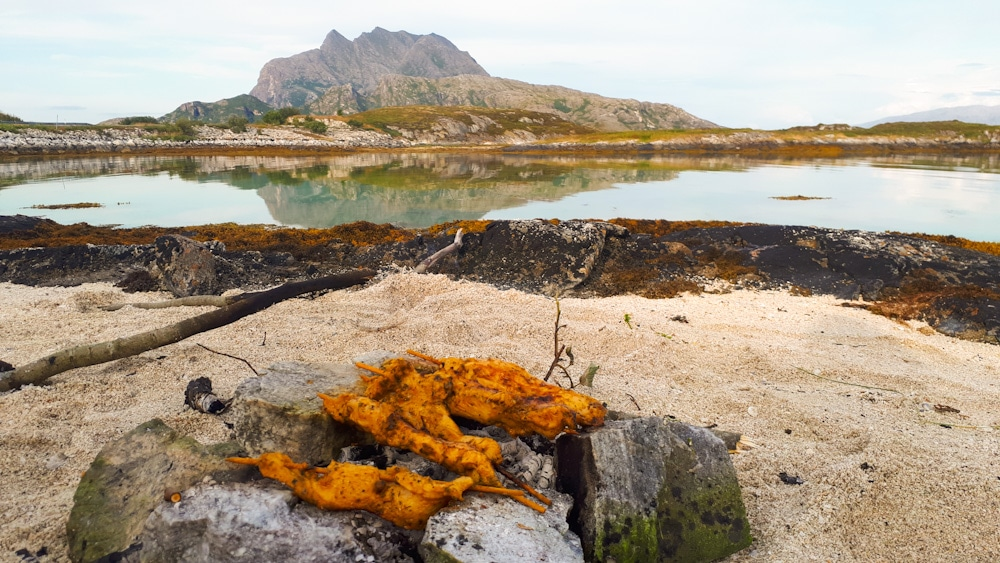 Lange Nächte in Helgelands Sommer sind perfekt zum Grillen