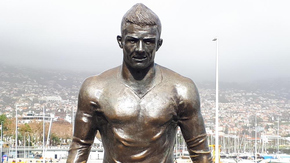 Cristiano Ronaldo Statue Funchal