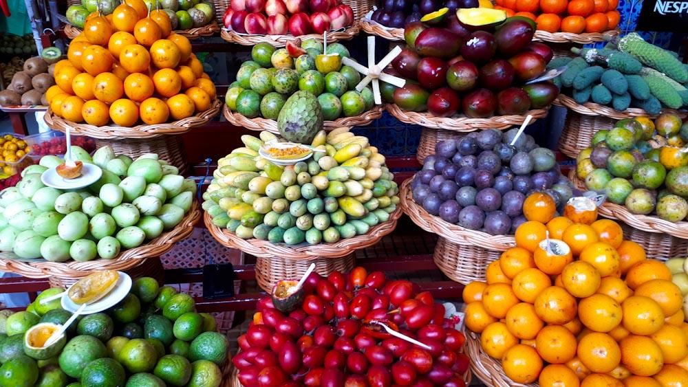 Früchte am Mercado dos Lavradores Funchal
