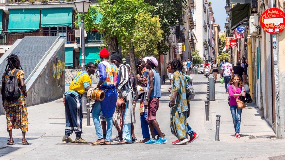 multikulturelle Bevölkerung in Madrid
