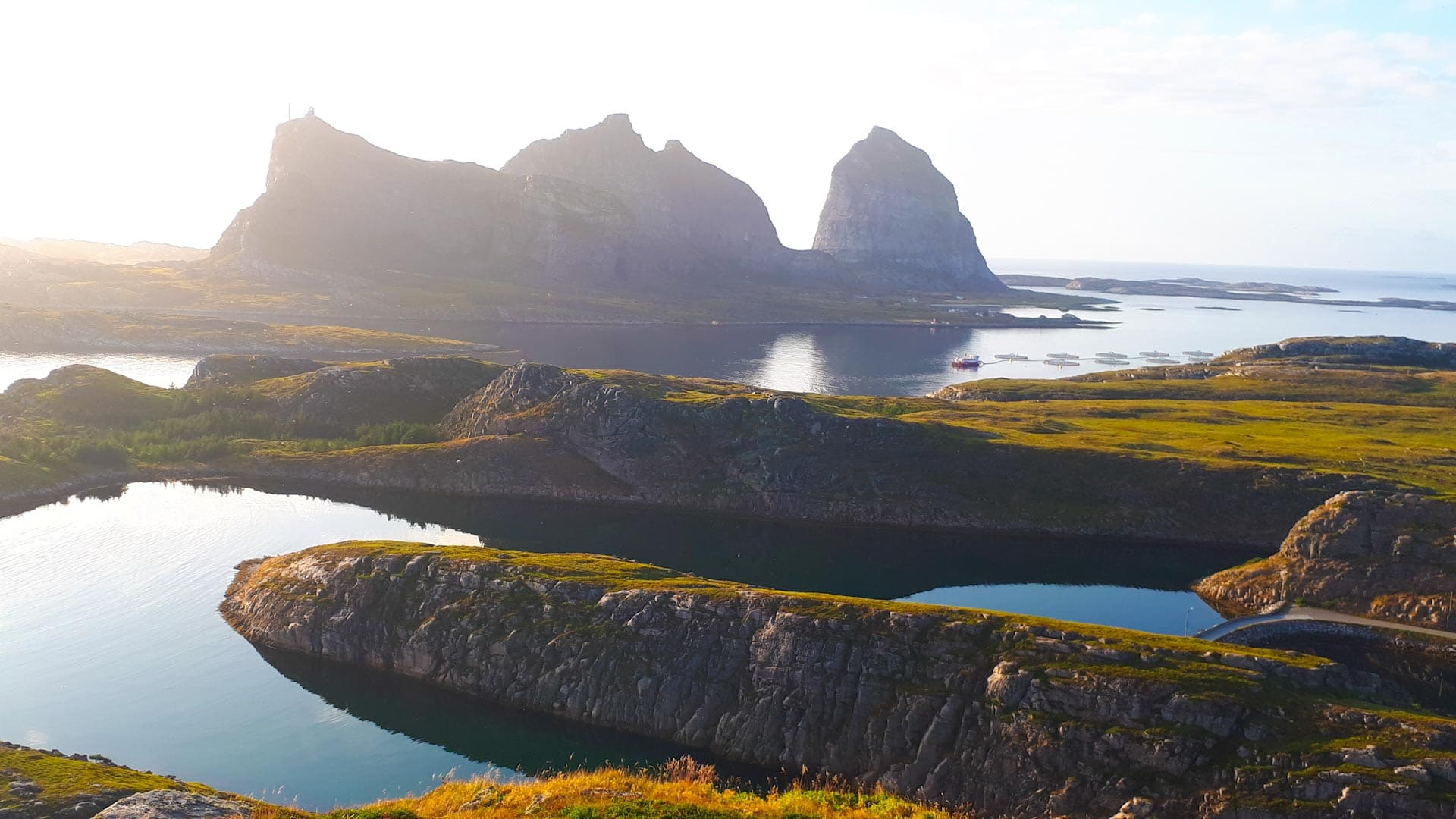 Aussicht von der Insel Traena